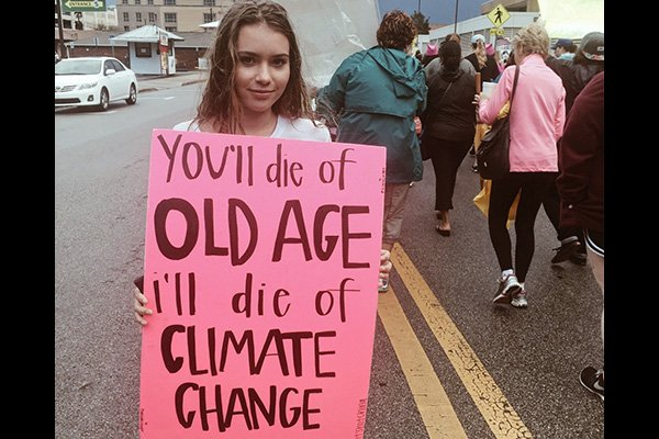 climate change young girl