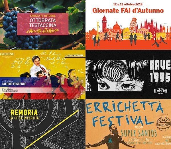 eventi 7-13 ottobre roma