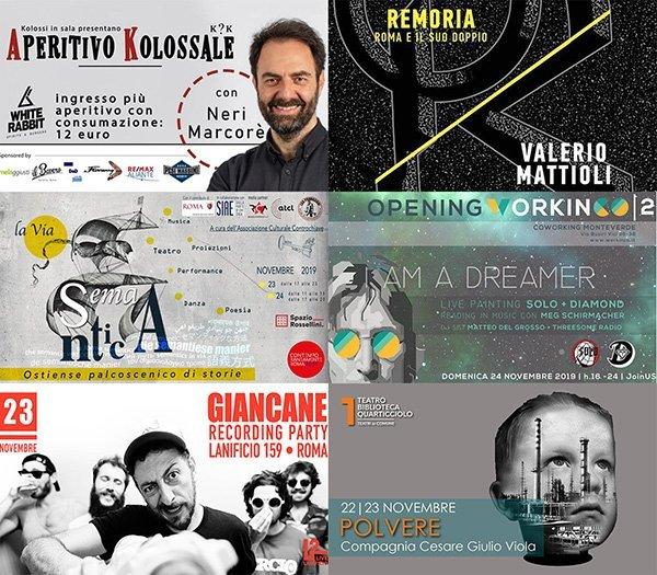 eventi roma novembre