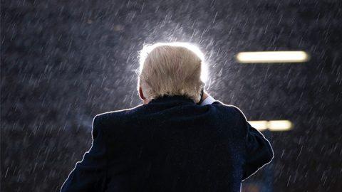 pioggia su trump